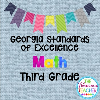 Georgia Standards of Excellence Posters Third Grade Math