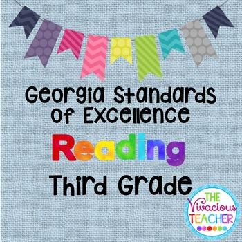 Georgia Standards of Excellence Posters Third Grade Reading