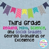 Georgia Standards of Excellence Posters Third Grade Reading, Math, Science, SS