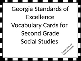 Georgia Standards of Excellence Vocabulary Cards Second Grade Social Studies
