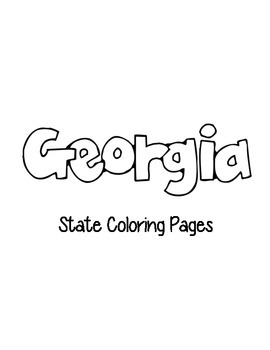 Georgia State Coloring pages