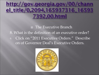 Georgia State Government Webquest