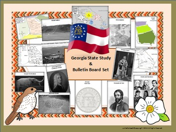 Georgia State Study & Bulletin Board Set