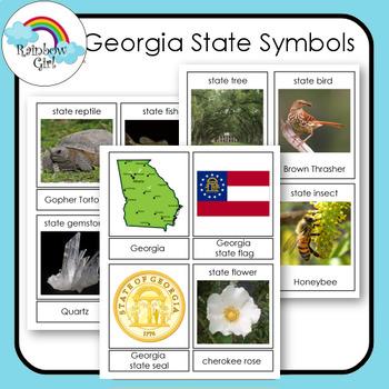 Georgia State Symbols Cards