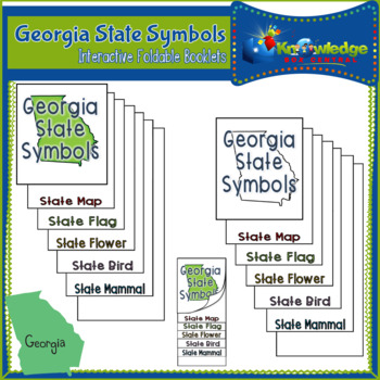 Georgia State Symbols Interactive Foldable Booklets