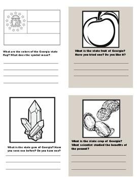 Georgia State Symbols Mini-Book
