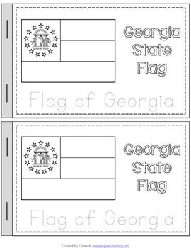 Georgia State Symbols Notebook