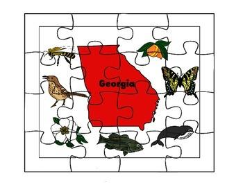 Georgia State Symbols Puzzle