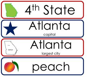 Georgia State Word Wall Bulletin Board Set. Geography Curriculum.