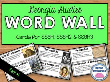 Georgia Studies Word Wall: Set 1