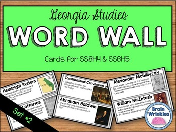 Georgia Studies Word Wall: Set 2