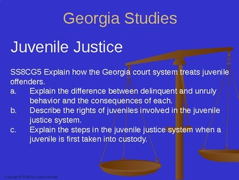 Georgia Studies 8th Grade Juvenile Justice