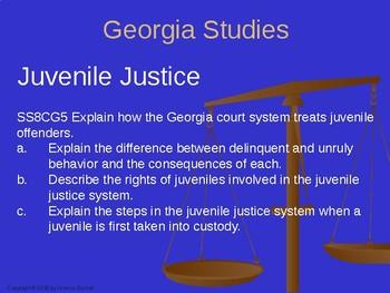 Georgia Studies 8th Grade Juvenile Justice