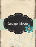 Georgia Studies Binder Shabby Chic theme