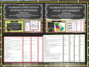 Georgia Studies: Bundle 4 (Government)