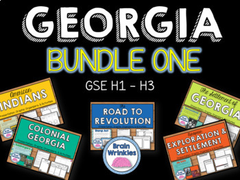 Georgia Studies Bundle One (SS8H1, SS8H2, SS8H3)