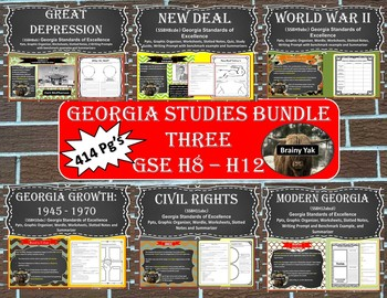 Georgia Studies Bundle Three (SS8H8 - SS8H12)