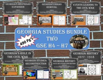 Georgia Studies Bundle Two (SS8H4 - SS8H7)