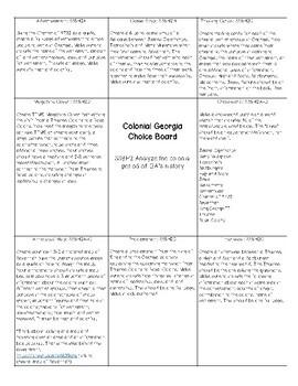 Georgia Studies Choice Board BUNDLE!