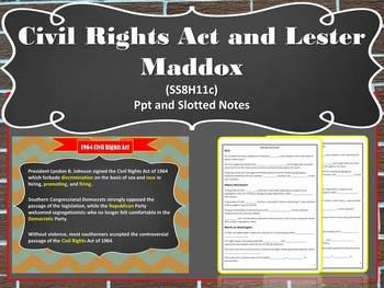 Georgia Studies: Civil Rights Movement (SS8H11)