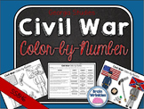 Georgia Studies: Civil War Color-by-Number Activity