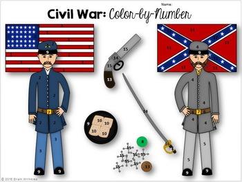 Georgia Studies Civil War Color By Number Activity By Brain Wrinkles