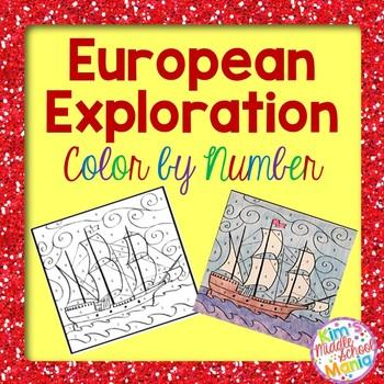 Georgia Studies European Exploration Color by Number