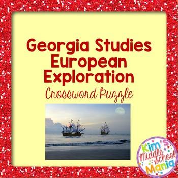 Georgia Studies-European Exploration Crossword