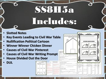 Georgia Studies: Events Leading to the Civil War (SS8H5a)