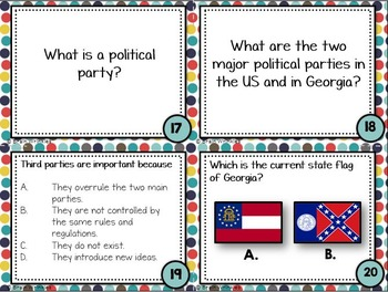 Georgia Studies: Foundations of Government TASK CARDS