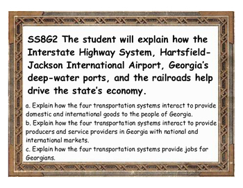 Georgia Studies Geography Standard SS8G2