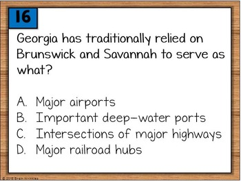 Georgia Studies: Geography Warm-Ups