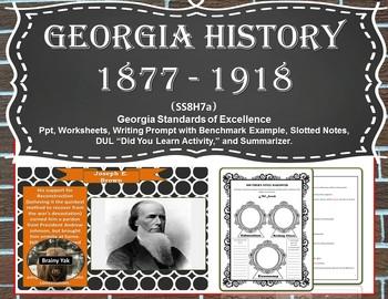 Georgia Studies: Georgia History 1877 to 1918 (SS8H7a)