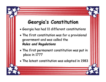 Georgia Studies Government Standards and Vocabulary