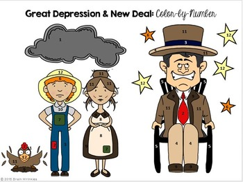 Georgia Studies: Great Depression and New Deal Color-by-Number Activity