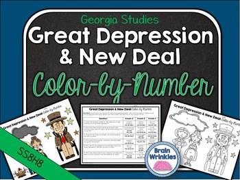 Georgia Studies: Great Depression and New Deal Color-by-Nu