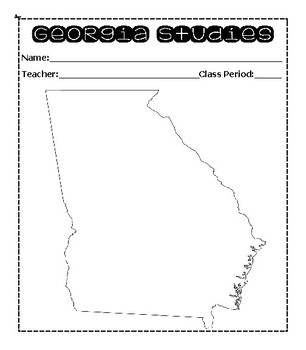 Georgia Studies Interactive Notebook Guidelines