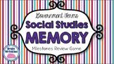 Social Studies Memory - 8th Grade Government Milestones Review