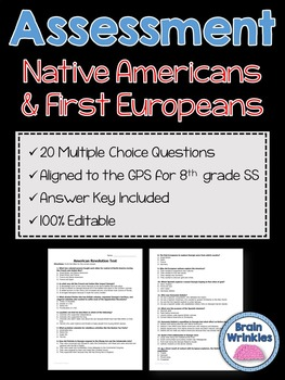 Georgia Studies: Native Americans and First Europeans Assessment (Editable)