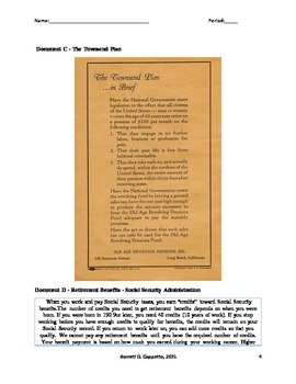 Georgia Studies - New Deal and Social Security DBQ