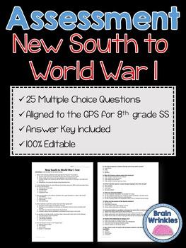 Georgia Studies: New South to World War I Assessment (Editable)