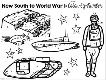 Georgia Studies: New South to World War I Color-by-Number Activity