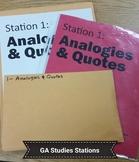 Georgia Studies Review Stations
