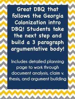 Georgia Studies: Revolutionary War DBQ {Argumentative DBQ}