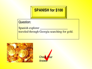 Georgia Studies: Two Worlds Collide Jeopardy - Geography, N.A.'s, & Exploration