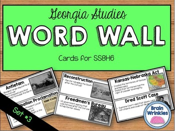 Georgia Studies Word Wall: Set 3