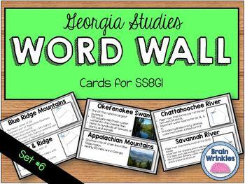 Georgia Studies Word Wall: Set 6