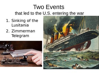 Georgia Studies World War 1, Lusitania, Zimmerman, & Georg