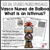 Georgia Test Prep Packet: Vasco Nunez de Balboa and What is an isthmus?