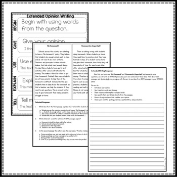 Georgia Test Prep Packet: Paired Passages Opinion Writing Prompts